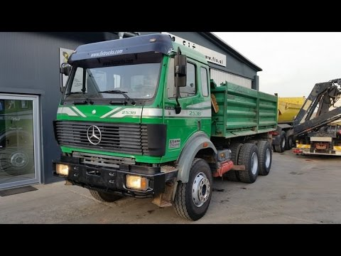 Truck Mercedes Benz Sk 2538 6x4 Fi Trucks Slovenia Youtube