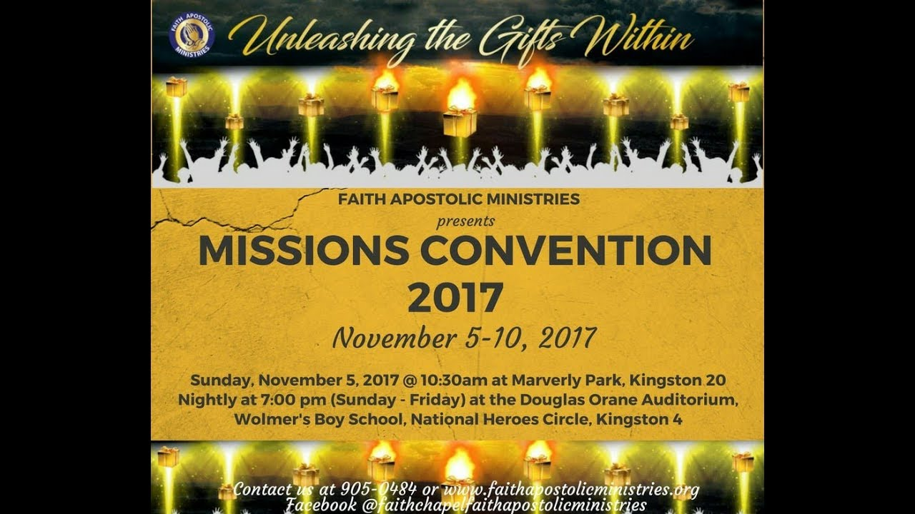 Mission Convention 2017 - Nov 06, 2017 [Monday Night] Speaker: Pastor  Seymour Brown