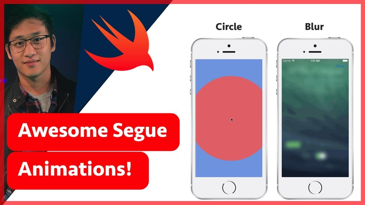 Custom Swift Transitions | Create Animated Segues Like Blur & Circle | iOS  (Swift 4 in Xcode 9)