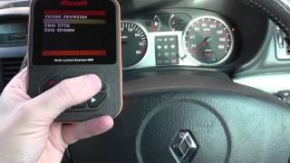 Renault Clio Air Bag Warning Diagnose iCarsoft i907 DF060 DF065 DF183