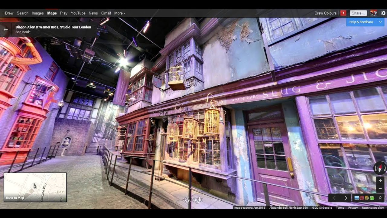 google maps street view diagon alley from harry potter