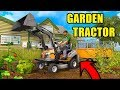 BEST PURCHASE YET! OUR LIL $2,000 GARDEN TRACTOR W/ LOADER | FARMING SIMULATOR 2017