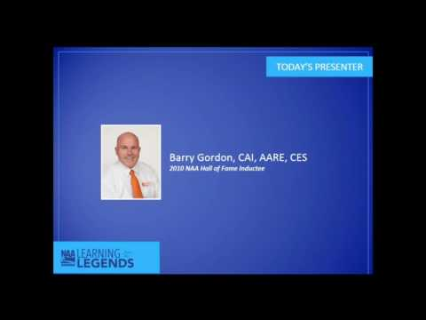 Learning from the Legends: Barry Gordon, CAI, AARE, CES