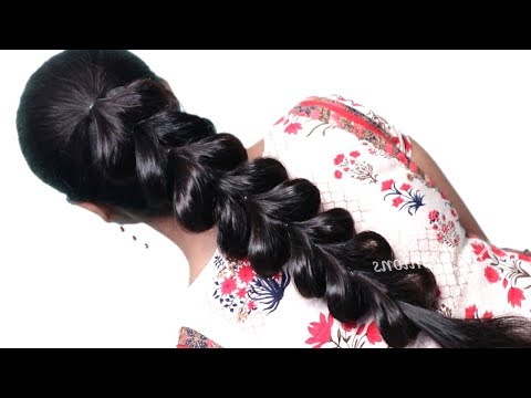 Latest hairstyle for wedding/party | Party Hairstyles | Easy Hairstyles | Hairstyles 2019 thumbnail