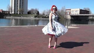 SUKI 50S TIKI SWING DRESS by Hell Bunny!