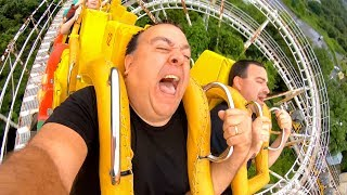 Riding BACKWARDS on this INSANE Roller Coaster in Japan!