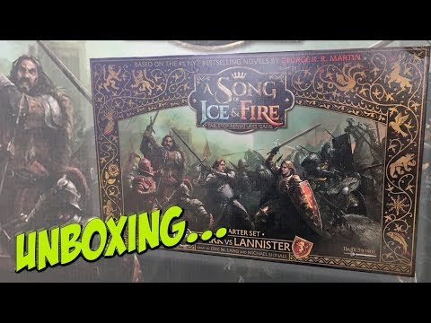 A Song of Ice and Fire Tabletop Miniatures Game  Cool Mini Or Not  Unboxing