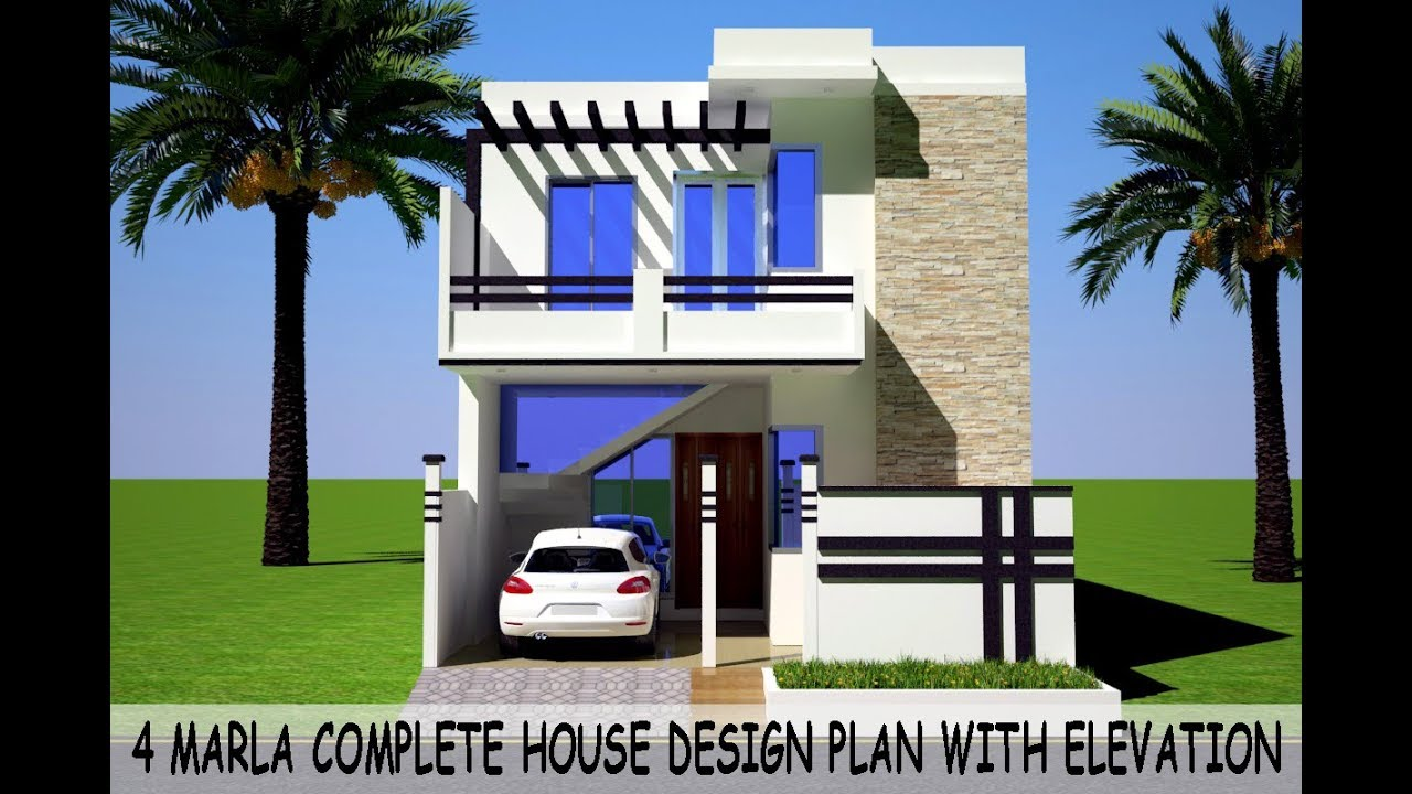 4 Marla Complete Modern House Plan Design