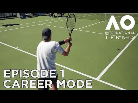 AO INTERNATIONAL TENNIS   CAREER MODE #1   FIRST MATCH (AGAIN!)