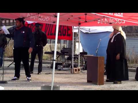 May Day 2014 - Windsor IWW Re-enacting the Haymarket Affair