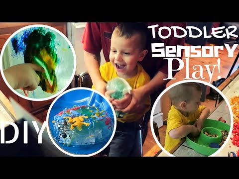 TODDLER SENSORY PLAY | DIY || The Barker Bunch