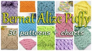 30 Patterns For Alize Bernat (Alize Puffy) More Tutorials, see the ...