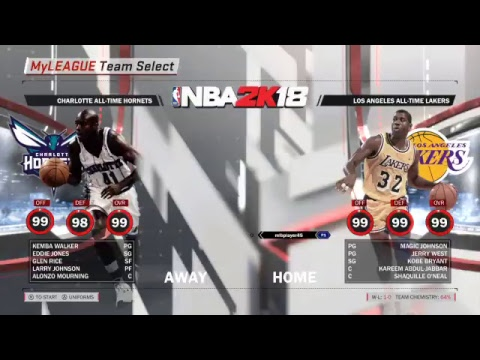 All Time Los Angeles Lakers  (1-0) (Hall of fame difficult)