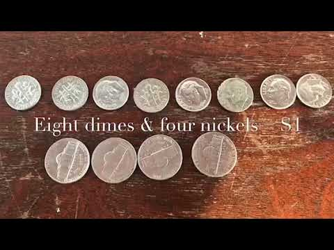 How To Make A Dollar (in Coins) Two Ways.