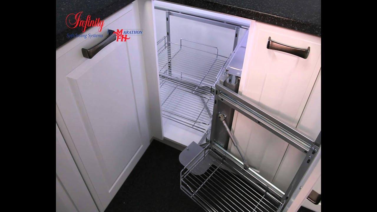 Kitchen Cabinet Fasteners Magic Corner Effective Corner Cabinet Storage By Marathon Youtube
