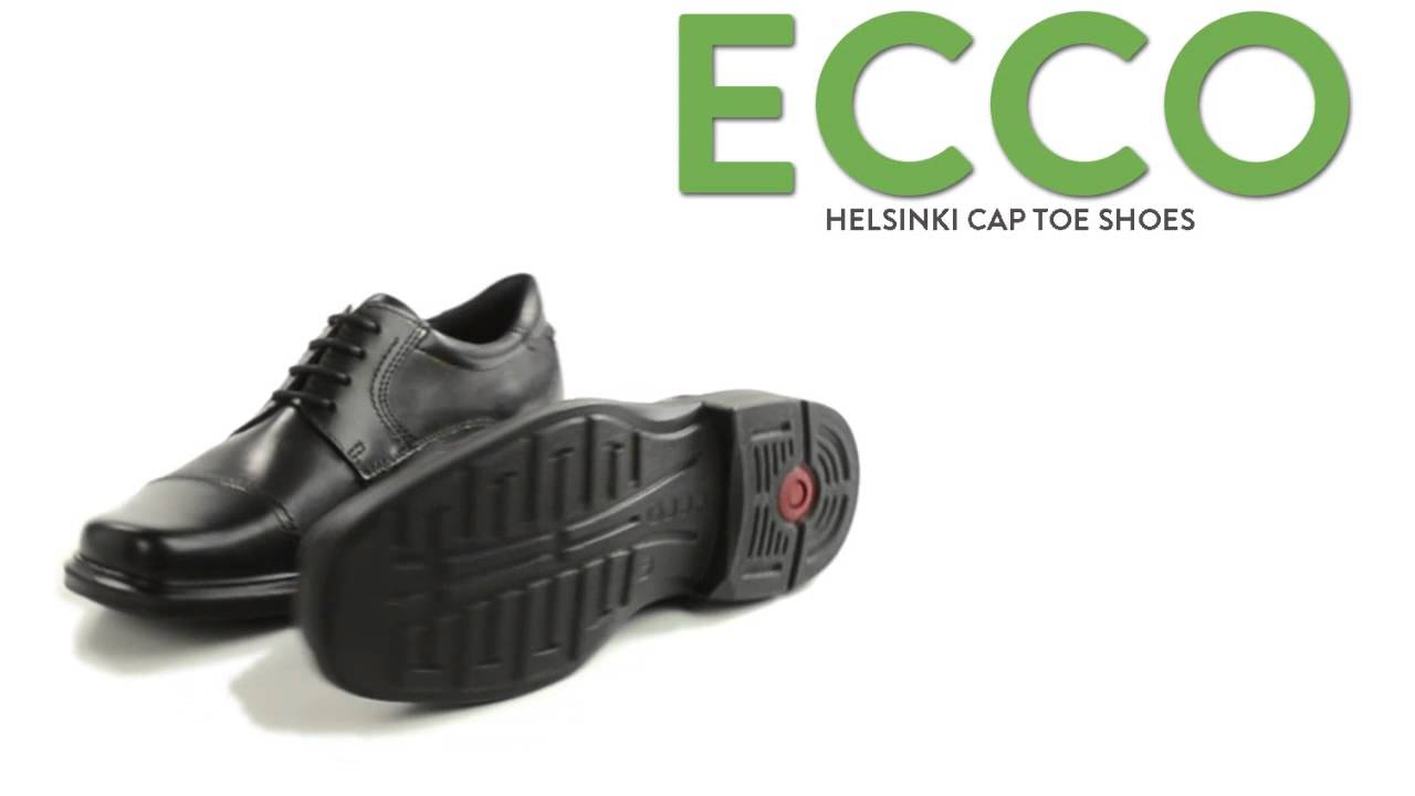 ECCO Helsinki Cap Toe Shoes - Leather (For Men) - YouTube 06be0cf83efb
