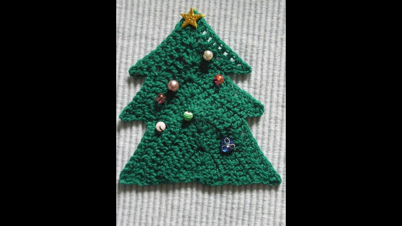 Tannenbaum Häkeln Weihnachtsdekoration Christmas decoration Tutorial ...