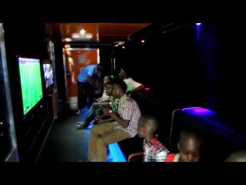 Boys having fun at a Mobile Video Game Trailer Party in Abuja!!