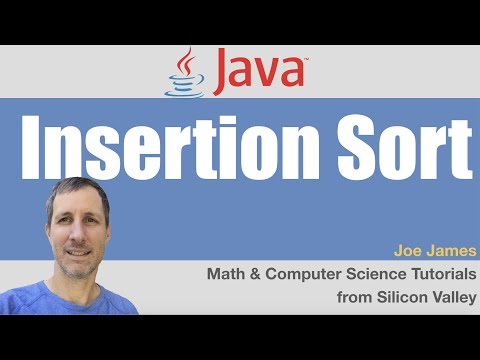 Java: Insertion Sort sorting algorithm