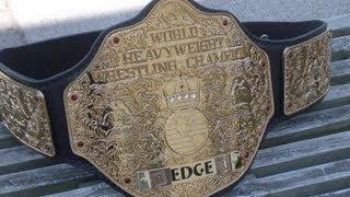 Real WWE World Heavyweight Championship Big Gold Belt!