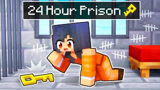 Escaping from a 24 HOUR PRISON in Minecraft!