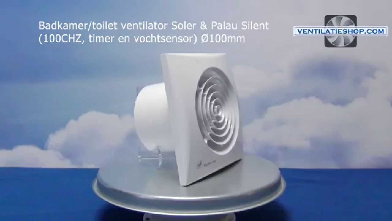 Badkamer Ventilator Test : Badkamer toilet ventilator soler & palau silent 100chz Ø100mm
