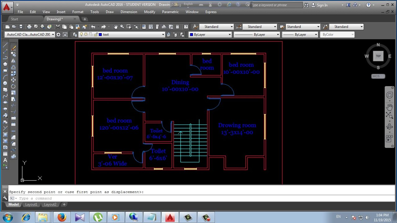 how to make a floor plan in autocad