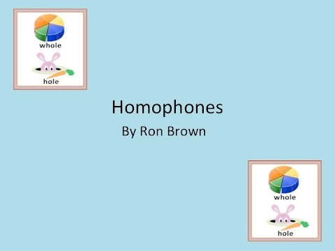 Homophones Song w/Lyrics