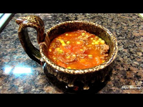 Vegetable Soup With Ground Beef  | Useful Knowledge