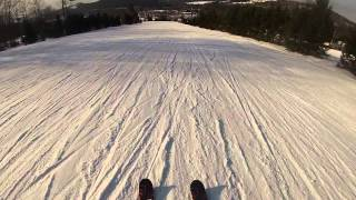Nostalgic run down Razor's Edge at Blue Mountain ski area in Pennsy...