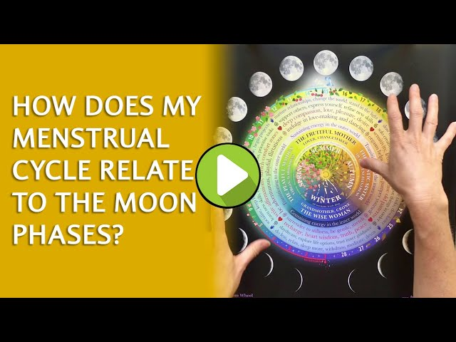 How does my menstrual cycle relate to the moon phases?