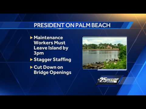 President, Prime Minister arriving in Palm Beach County today