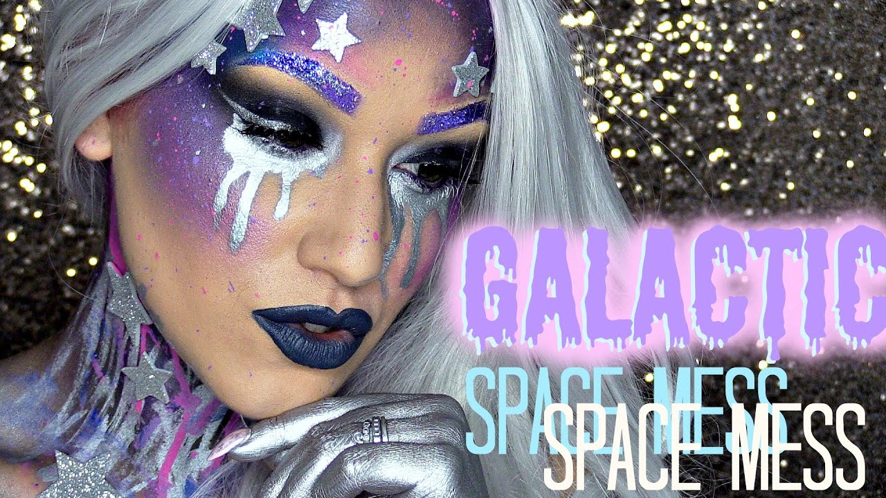 4293a5a95bd69 Galactic Space Mess Makeup Tutorial - YouTube