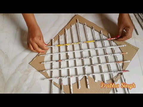 paper-flower-wall-hanging.-easy-wall-decoration-ideas.-paper-craft.-diy-wall-decor