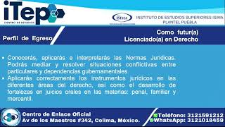 Licenciatura en Derecho | Centro de Estudios ITEP | Instituto de Estudios Superiores ISIMA