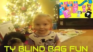 ALY OPENS TY BLIND BAGS TOY REVIEW