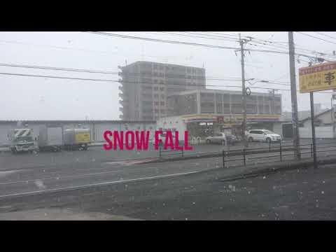 Snow Fall in Japan Fukuoka
