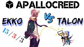 Apallocreed | Ekko vs Talon mid Ranked Patch 8.11
