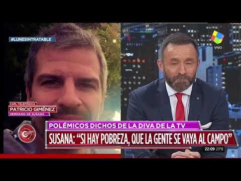 El hermano de Susana Giménez quiso defenderla