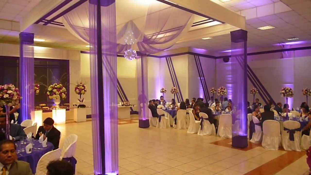 Matrimonio decoraci n de local youtube for Decoracion con telas
