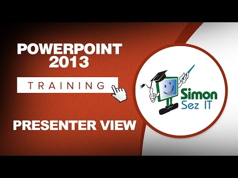 PowerPoint 2013 Training - Using Presenter View - PowerPoint 2013 Tutorial