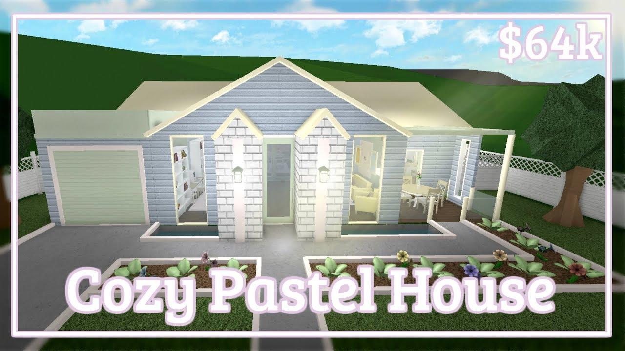 Bloxburg Cozy Pastel House Speed Build Youtube
