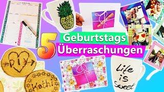 5 Ideen zum GEBURTSTAG | DIY Ideen für die BFF, Mama & Papa | Überraschungen & DIY Birthday Gifts