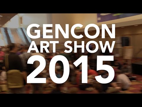 Walking around the GenCon 2015 Art Show