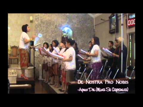 Agnus Dei Misa St  Capranica performed DNPN