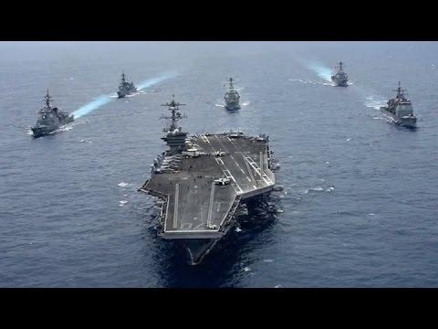 El portaaviones nuclear estadounidense USS Carl Vinson llegó a la península de Corea
