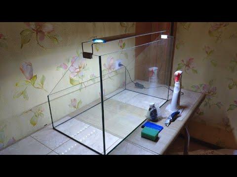 Клею фон на стекло аквариума - Glue The Background On The Aquarium Glass