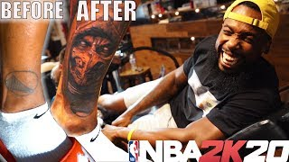 THE NBA2K TATTOO ARTIST COVERED UP MY GOLDEN STATE WARRIORS TATTOO!