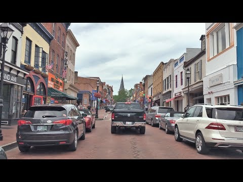 Driving Downtown - Main Street - Annapolis Maryland USA