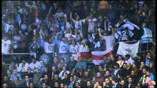 Cheechoo tic-tac-toe goal past Brust(Jonathan Cheechoo scores beautiful tic-tac-toe goal from Konstantin Koltsov and Matt Ellison assists., 2015-12-24T15:35:37.000Z)